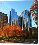 Autumn In Boston Acrylic Print