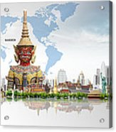 Background Travel Concept  Acrylic Print