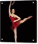 Ballerina Warhol Style Acrylic Print