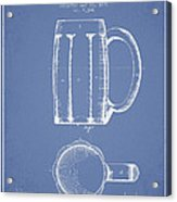 Beer Mug Patent From 1876 - Light Blue Acrylic Print