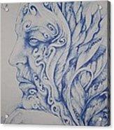 Blue Acrylic Print by Moshfegh Rakhsha