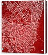 Bogota Street Map - Bogota Colombia Road Map Art On Colored Back Acrylic Print
