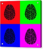 4 Brain Pop Art Panel Acrylic Print
