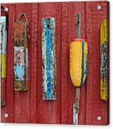 Buoys At Rockport Motif Number One Lobster Shack Maritime Acrylic Print