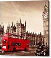 Bus In London Acrylic Print