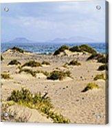 Caleta De Famara Beach On Lanzarote Acrylic Print