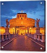 Castel Sant Angelo Acrylic Print by Brian Jannsen