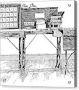 Census Machine, 1890 Acrylic Print