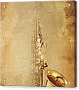 Charlie Parker Quote - Sax Acrylic Print