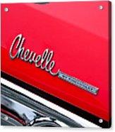 Chevrolet Chevelle Ss Taillight Emblem Acrylic Print