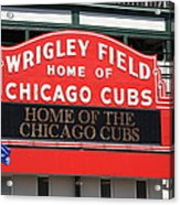Chicago Cubs - Wrigley Field Acrylic Print