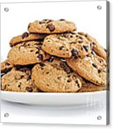 Chocolate Chip Cookies Acrylic Print by Elena Elisseeva