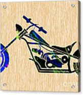 Chopper Motorcycle Acrylic Print