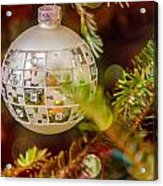 Christmas Tree Ornaments And Decorations Acrylic Print