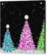 4 Christmas Trees Acrylic Print