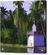 Church Located Next To A Canal Acrylic Print
