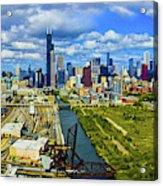 City At The Waterfront, Lake Michigan Acrylic Print