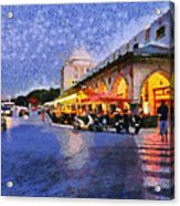 City Of Rhodes During Dusk Time Acrylic Print
