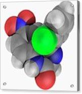 Clonazepam Drug Molecule Acrylic Print