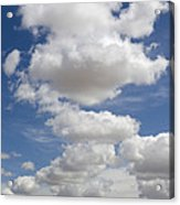 Clouds And Field Acrylic Print