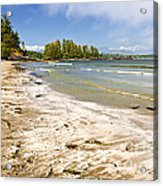 Coast Of Pacific Ocean On Vancouver Island Acrylic Print