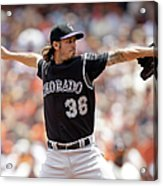 Colorado Rockies V San Francisco Giants Acrylic Print