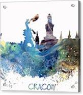 Cracow City Skyline Acrylic Print