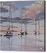Cuttyhunk Harbor Acrylic Print by Karol Wyckoff