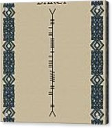 Darcy Written In Ogham Acrylic Print