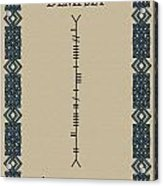 Dempsey Written In Ogham Acrylic Print