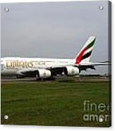 Emirates Airbus A380 Acrylic Print