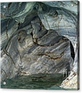 Eroded Marble Shoreline Acrylic Print