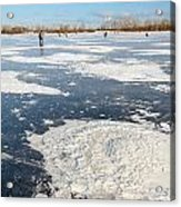 Fishermen On The Frozen River Acrylic Print
