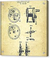 Fishing Reel Patent From 1896 Acrylic Print