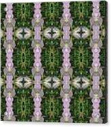 Flowers From Cherryhill Nj America Silken Sparkle Purple Tone Graphically Enhanced Innovative Patter Acrylic Print