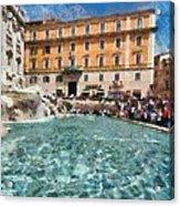 Fontana Di Trevi In Rome Acrylic Print