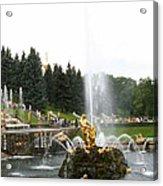 Fountain In Petergof Acrylic Print
