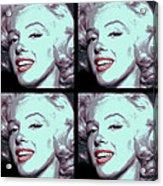4 Frame Marilyn Pop Art Acrylic Print