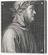 Francesco Petrarch  Italian Poet Acrylic Print