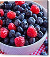 Fresh Picked Organic Blueberries Acrylic Print