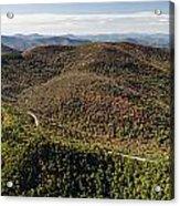 Graveyard Fields On The Blue Ridge Parkway Aerial Acrylic Print