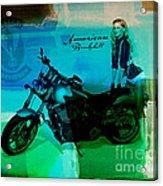 Harley Davidson Ad Acrylic Print