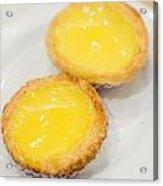 Hong Kong Food Egg Tart  Acrylic Print