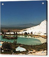 Hot Springs And Travertine Pool Acrylic Print