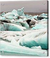 Iceberg Formations Broken Acrylic Print