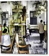Inside The Historic Jewish Synagogue In Cochin Acrylic Print