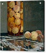 Jar Of Peaches Acrylic Print