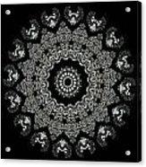 Kaleidoscope Ernst Haeckl Sea Life Series Black And White Set 2  Acrylic Print