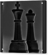 King And Queen In Black And White Acrylic Print