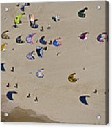 Kitesurfing, Tel Aviv Acrylic Print by Ofir Ben Tov